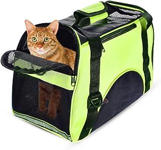 PETCUTE Portable Pet Carrier Lightweight Cat Travel Carrier Bag Pet Crate for Dogs Cats - M 44 x 23 x 32 cm Green