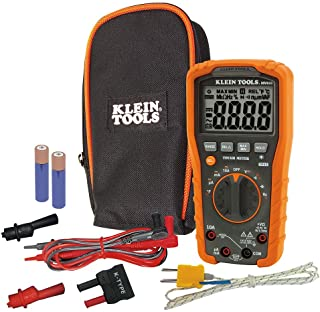 Klein Tools MM600 HVAC Multimeter, Digital Auto-Ranging Multimeter for AC/DC Voltage, and Current, Temperature, Frequency,...
