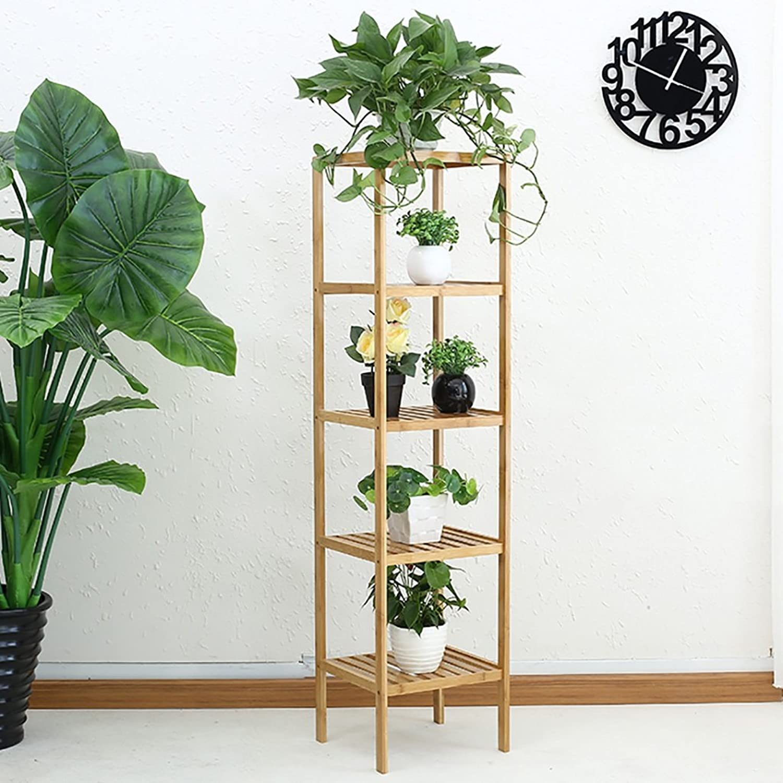 Standing Flower Stand Flower Stand Solid Wood Multi-Layer Landing Flower Stand Balcony Living Room Flower Pot Rack Shelf Decorative Frame (color   C)