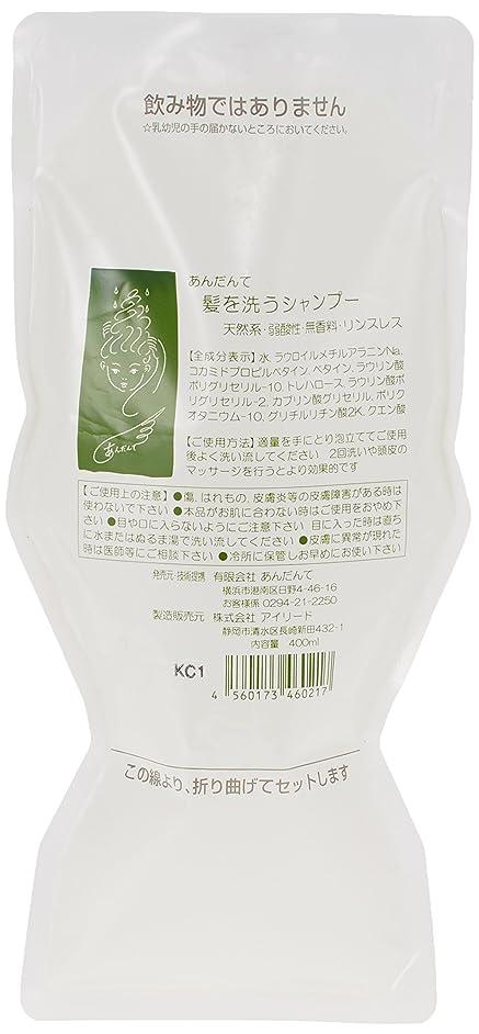 オーバードロー日常的にペストリーあんだんて 髪を洗うシャンプー 400ml パウチ