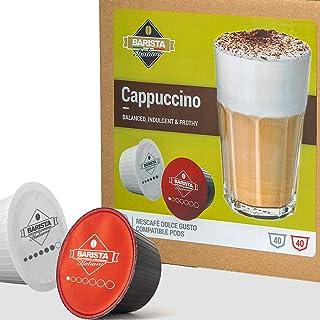 Barista Italiano - Cappuccino | 80 Capsules Compatibles Dolce Gusto (Cappuccino, 80 Capsules, 40 Portions)