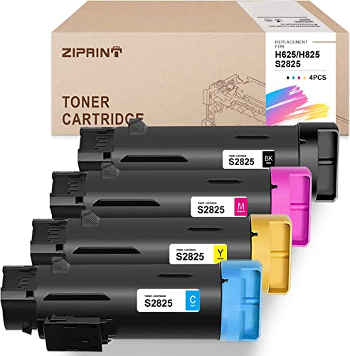 high quality ZIPRINT Compatible Toner Cartridge Replacement for Dell 2825 2021 H625 H825 S2825 wholesale for H625CDW H825CDW S2825CDN (Black, Cyan, Magenta, Yellow, 4-Pack) outlet online sale
