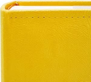 """Golden State Art Photo Album, Holds 200 4""""x6"""" Pictures, 2 Per Page, Suede Cover, CL55058-8 Yellow"""