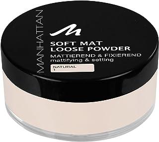 Manhattan Soft Mat Loose Powder, Los Poeder voor Het Matteren en Bakken van De Teint, Kleur Naturel 1, 1 X 20 G