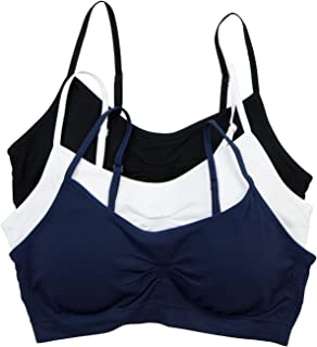 Women's Seamless Padded Wirefree Comfort Bra Bralette