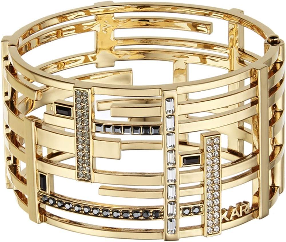 Karl lagerfeld,bracciale per donna,in ottone e cristalli 5512167