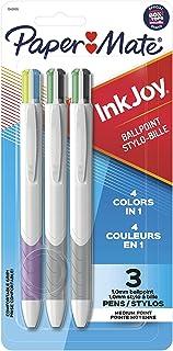 Paper Mate InkJoy Quatro Retractable Ballpoint Pens, Medium Point, Assorted, 3 Pack (1945905)
