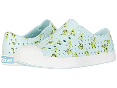 Native Shoes Jefferson Print (Piedmont Blue/Shell White/Palm Tree Print) Athletic Shoes