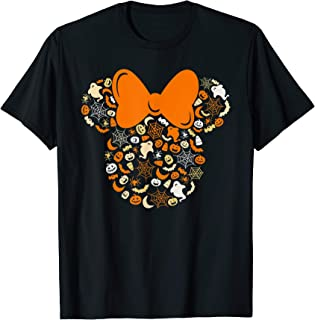 Minnie Mouse Halloween Ghosts Pumpkins Spiders T-Shirt