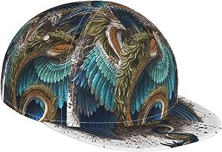 Flat Bill czapka bejsbolowa 3D zielony smok niebieski miłośnik smoków regulowana czapka z daszkiem płaskie czapki z daszki...