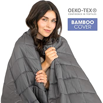 Dreamzie - Weighted Blanket for Adults 8kg - Perfectly Adjusted for King Size Beds - Premium Blanket Bamboo Certified OEKO-TEX® No Chemical Products - Reduces Stress and Anxiety