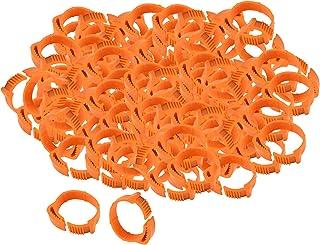 Baoblaze 2,8 cm, pierścienie dla drobiu, 100 sztuk, regulowane pierścienie na nogi, gołębia, pierścienie z numerem dla goł...