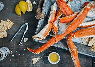 Alaskan King Crab: Super Colossal Red King Crab Legs (3 LBS - PRE CUT) - Overnight Shipping Monday-Thursday