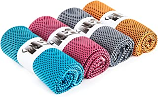 Namay Cooling Towel for Instant Relief, Chilly Neck Wrap, Ice Cold Scarf -Set of 4 for Fitness,Yoga, Running and Other Outdoor Activities