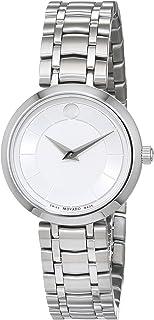 Movado - Reloj Analogico para Mujer de Cuarzo con Correa en Acero Inoxidable 607098