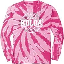 Koloa Surf Graphic Logo Long Sleeve Tie-Dye T-Shirts in Sizes S - 4XL