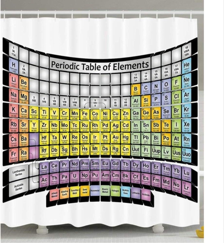 ordenar ahora WIXIJAWR Tabla Tabla Tabla Periódica De Elementos Química Estudiante Familia Decoración Ciencia Amante Inteligente Educativo Textiles para El Hogar Tela Cortina De Ducha, 150X180Cm  a la venta