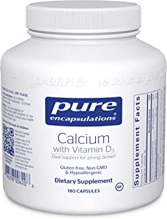 Pure Encapsulations - Calcium with Vitamin D3 - Hypoallergenic Dietary Supplement Supports Bone, Colon, and Cardiovascular Health - 180 Capsules