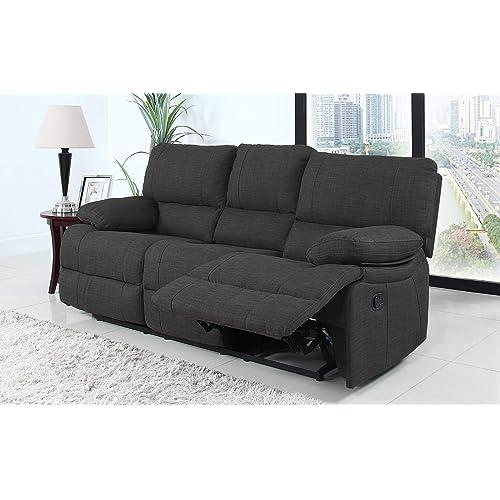 Fabric Reclining Sofa Amazon Com
