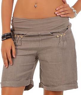 Malito 6822 Women's Bermuda Linen Casual Shorts Beach Shorts Pants