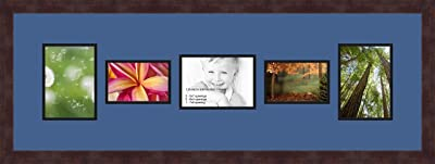 Art to Frames Double-Multimat-262-849//89-FRBW26061 Collage Frame Photo Mat Double Mat with 2-4x6 and 1-5x7 Openings and Espresso Frame