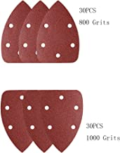 60 Pieces 140x140x95mm Assorted 800/1000 Grits Mouse Detail Sandpaper
