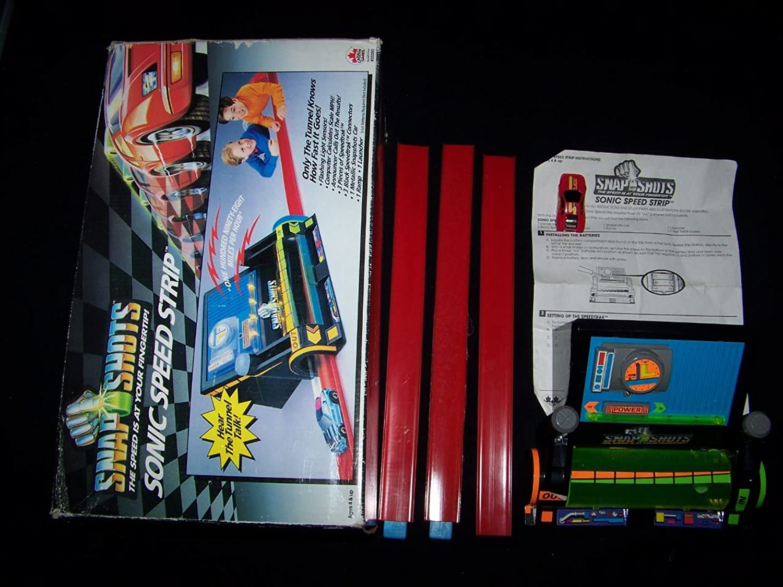 Snap Shots Sonic Speed Strip 1993 Race Car Playset