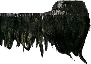 """keland 2 Yards Coq Bande de Plume Mince 5-8""""Largeur Bricolage Haussement d'épaules châle Jupe Robe Halloween Jupe"""