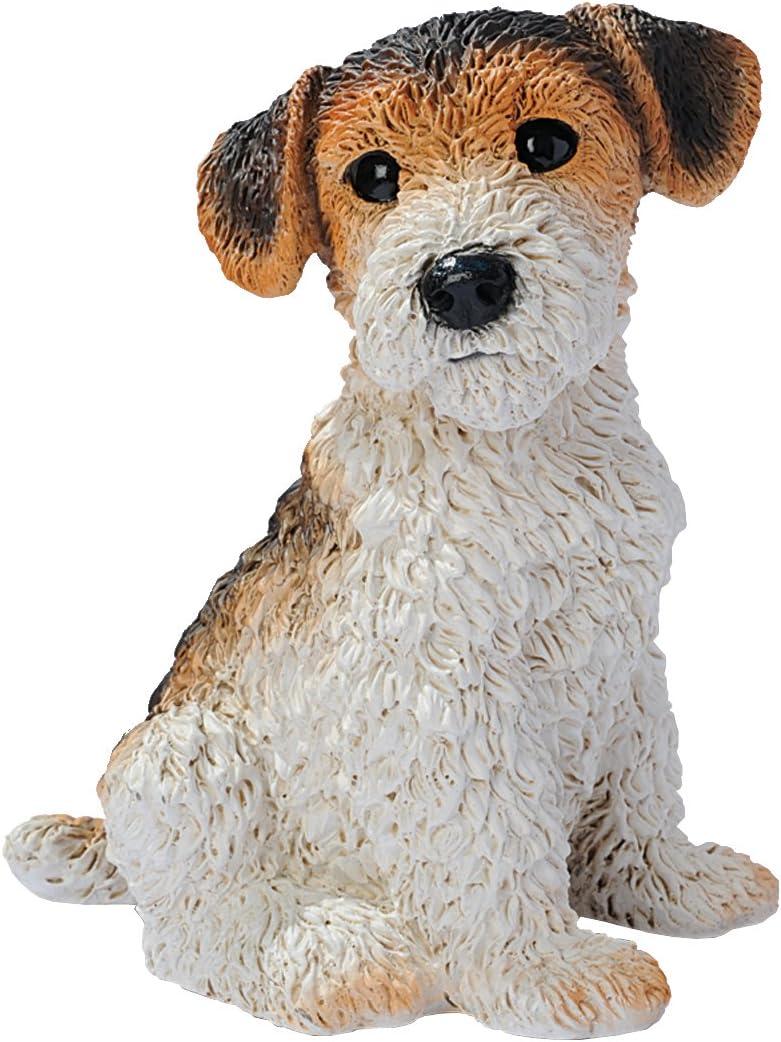 Design Toscano Fox Terrier Puppy Dog Statue, Multicolored