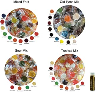 Eda's Sugar Free Hard Candy CLASSIC FLAVORS 2 Pounds Edas Individually Bagged with Mixed Fruit, Old Tyme Mix, Sour Mix & Tropical Mix (8 oz each) with a Jarosa Chocolate Bliss Lip Balm
