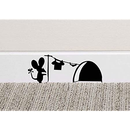 213B Mouse Hole Wall Art Sticker Washing Vinyl Decal Mice Home Skirting Board Funny by Black Country Vinyls