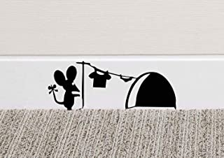 213B Mouse Hole Wall Art Sticker Washing Vinyl Decal Mice