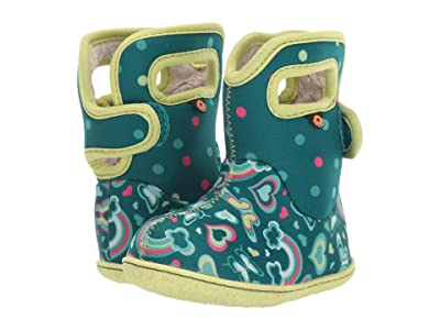 Bogs Kids Baby Bogs Rainbows (Toddler) (Turquoise Multi) Girls Shoes