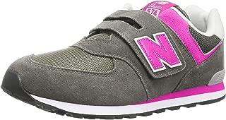 New Balance Kids' Girl's 574v1 Evergreen Hook and Loop Sneaker