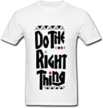 Banosin Mens White Do The Right Thing T-Shirts