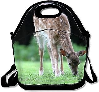 Reusable Deer Lunch Tote Bag for Kids Lunchbox with Shoulder Straps
