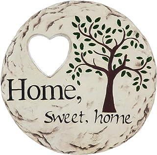 حجر ديكور من Evergreen Garden جميل صيفي للمنزل والحديقة الكلاسيكية - 25.4 × 25.4 × 25.4 سم مقاوم للبهتان والطقس في الهواء ...