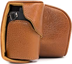 """MegaGear""""Ever Ready"""" Genuine Leather Camera Case, Bag for Sony Alpha A6000, A6300 with 16-50mm (Light Brown)"""