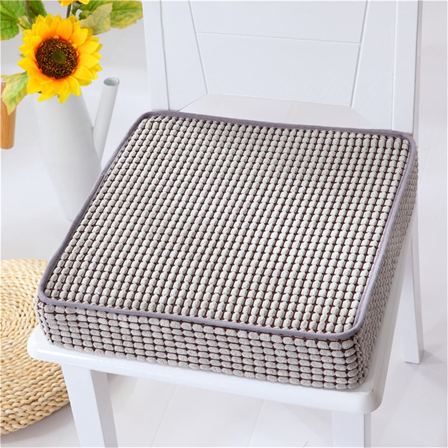 VANCORE Indoor/Outdoor Chair Cushion Non-Skid Memory Foam Seat Cushion Luxury Chair Pillow Square Chair Cushions Pads, Grey 16