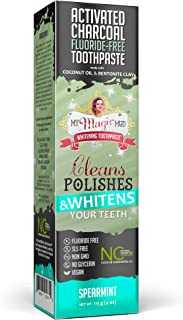 My Magic Mud, Activated Charcoal, Fluoride-Free, Whitening Toothpaste, Spearmint, 4 oz