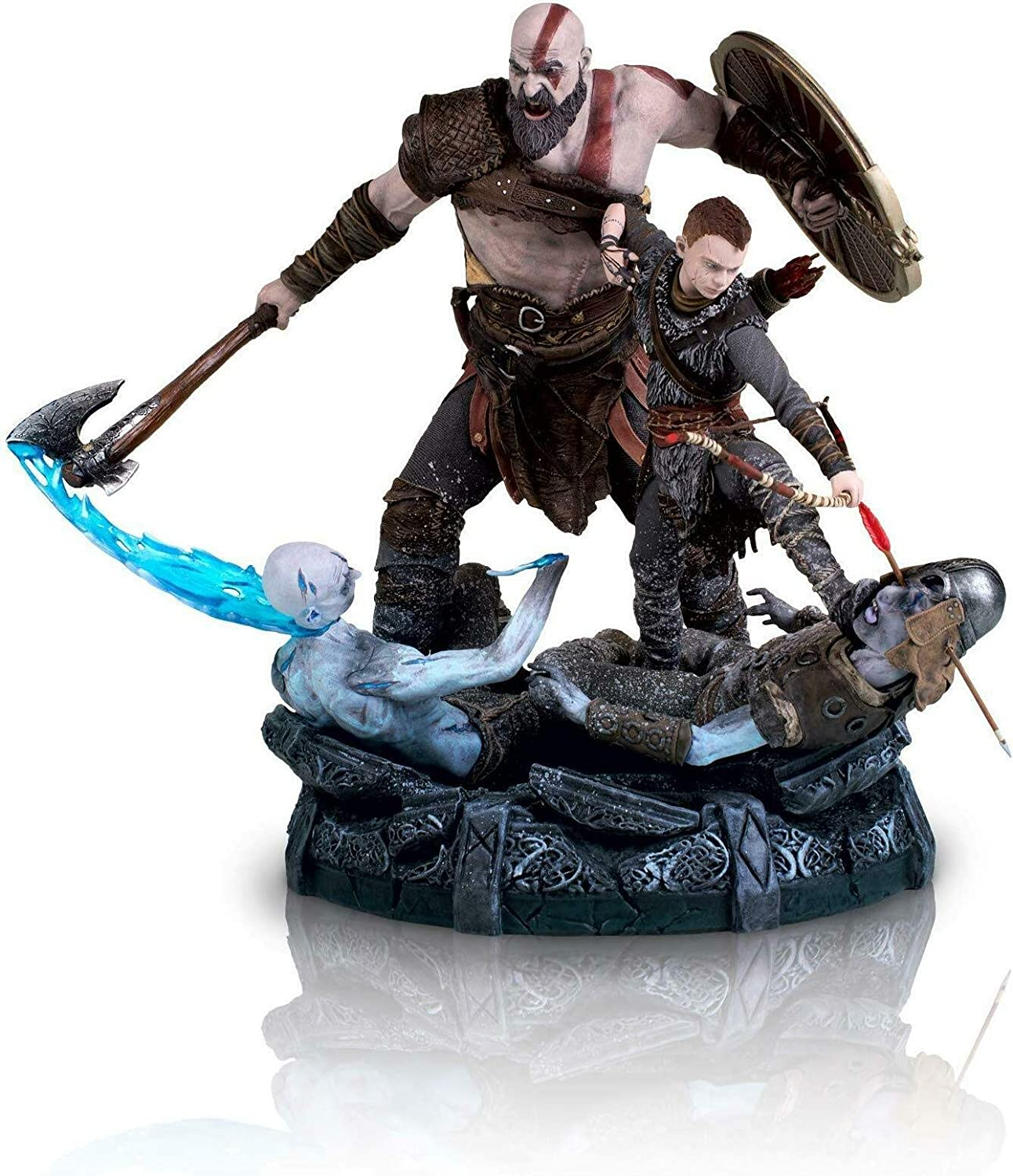 God of War 9  Kratos & Atreus Collector's Edition Statue