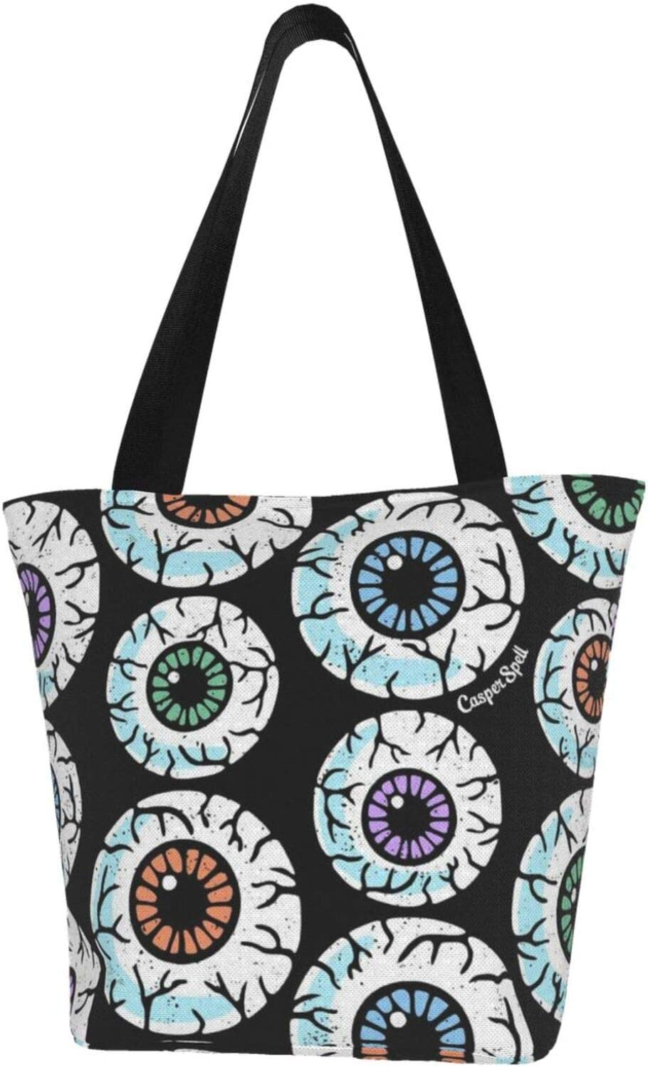 AKLID 2021 autumn and winter new Zombie outlet Eyes Extra Large Water Canvas Tote fo Bag Resistant