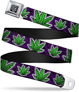 BUCKLE-DOWN INC. Unisex-Adult's Buckle-Down Seatbelt Belt Weed Kids, Multicolor, 20-36 Inches
