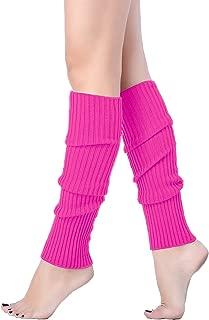 V28 Women Juniors 80s Eighty's Ribbed Leg Warmers for...