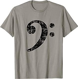 Bass Clef (Vintage Black) Bassist Bass Player T-Shirt