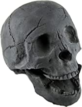 Myard Fireproof Imitated Human Fire Pit Skull Gas Log for NG, LP Wood Fireplace, Firepit, Campfire, Halloween Decor, BBQ (Qty 1, Black)