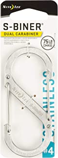 Nite Ize Size-4 S-Biner Dual Carabiner, Stainless-Steel