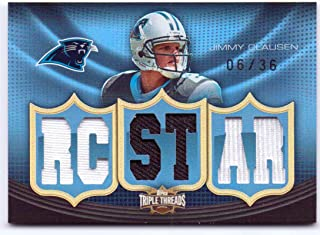 Jimmy Clausen 2010 Topps Triple Threads Relic Rookie Game Worn Jersey #TTR-7 - 06/36 - Carolina Panthers, Chicago Bears