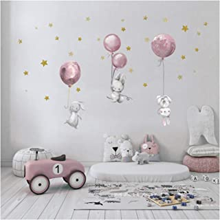 yabaduu Autocollant / sticker mural décoratif, auto-adhésif pour chambre d'enfant, de bébé et de jeux, au motif d'aquarell...