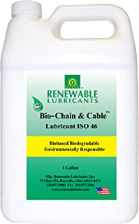 Renewable Lubricants Bio-Chain and Cable ISO 46 Lubricant Oil, 1 Gallon Jug